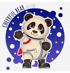 Panda astronaut funny character vector