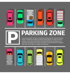 Parking Zone Conceptual Web Banner vector image