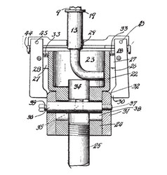 Pipe fitting threading machine vintage vector
