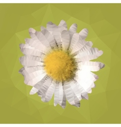 Polygonal mosaic of daisy vector