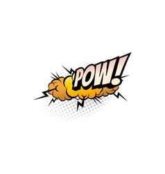 pow cartoon comic book sound pop cloud blast vector image