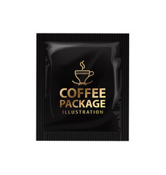 realistic coffee or cocoa sachet mock up vector image