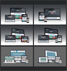 Responsive Screen Mockup vector image