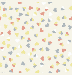 retro love patterns seamless background vector image