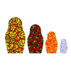 Russian family matryoshka Khokhloma and Gzhel vector image