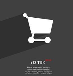 Shopping basket icon symbol Flat modern web design vector