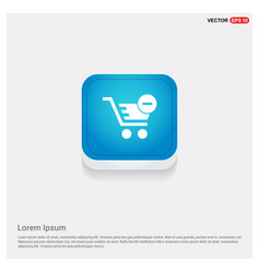 shopping cart and delete sign vector image