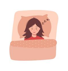 Sleeping baby girl vector