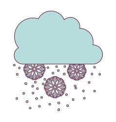 Snow weather icon vector