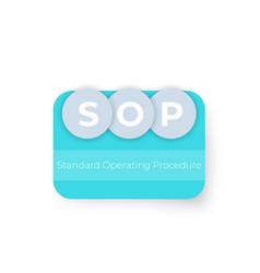 Sop standard operating procedure design vector