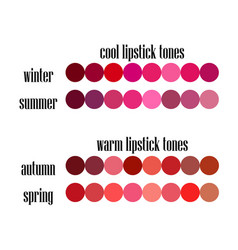 Stock seasonal color analysis lipstick colo vector