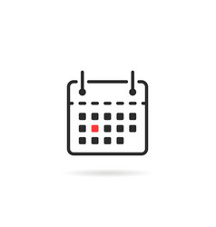 tear-off calendar icon isolated on white vector image