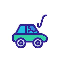 thief car icon isolated contour symbol vector image
