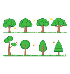 tree symbol icon element landscape web game vector image
