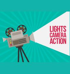 Video camera flat design vector