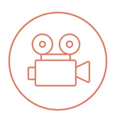 Video camera line icon vector image