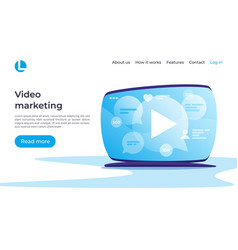 Video marketing social media entertainment vector