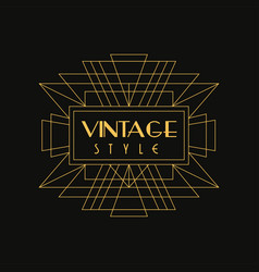 Vintage style logo art deco design element in vector