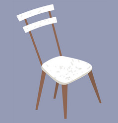 Wooden chair furniture to sit interior design vector