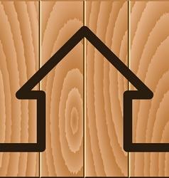 Wooden house symbol vector