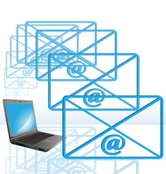 abstract computer e-mail vector image vector image