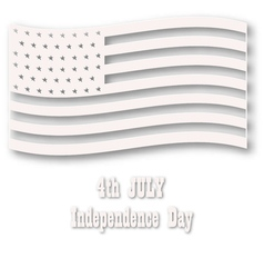 American flag in white style vector image vector image