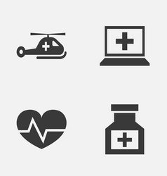 antibiotic icons set collection of copter vector image vector image