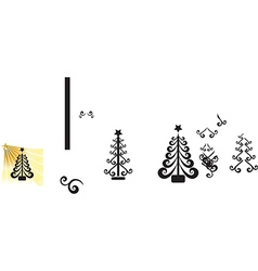 Christmas ball swirl design vector image vector image
