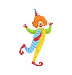 Colorful Friendly Clown With Tie In Classic Outfit vector image