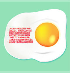 fried egg yolk background template vector image vector image