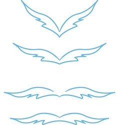 graphic wings vector image