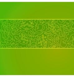 Nature stripe ornamental background vector image vector image