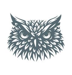 owl head - icon design vector image