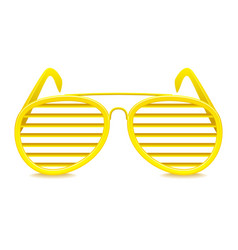 shutter shades sunglasses isolated on white vector image