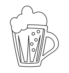 St patricks day glass beer cold thin line vector