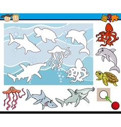 cartoon game for preschool kids vector image vector image