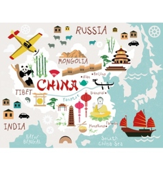 Maps of China vector image