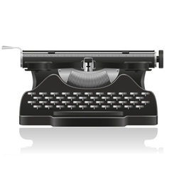 old typewriter 01 vector image vector image