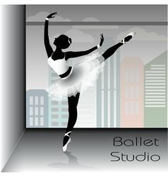 Ballet dancer silhouette vector image vector image