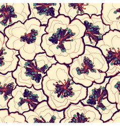 Beautiful vintage floral seamless pattern Garden vector image