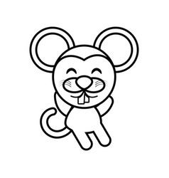 Cartoon mouse animal outline vector