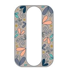 Decorative letter shape Font type O vector image vector image