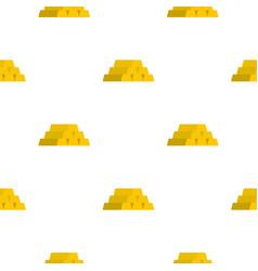 gold bar pattern flat vector image vector image
