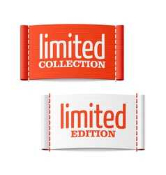 Limited collection and edition clothing labels vector image vector image