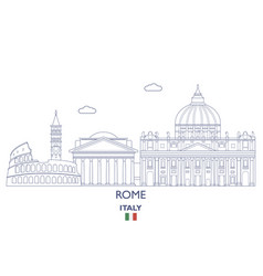 rome city skyline vector image