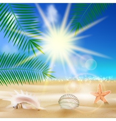 Seaside view poster vector image vector image
