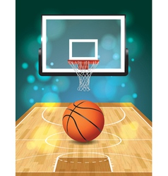 Basketball Court and Hoop vector image