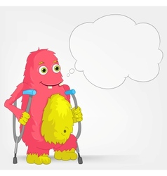 Funny Monster Disabled vector image vector image