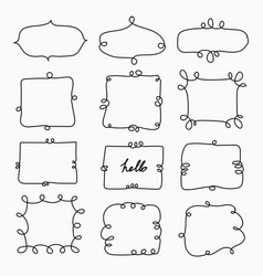 hand drawn doodle frame decorative calligraphic vector image