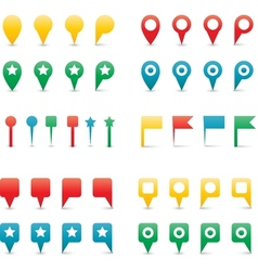 map pins gradient vector image